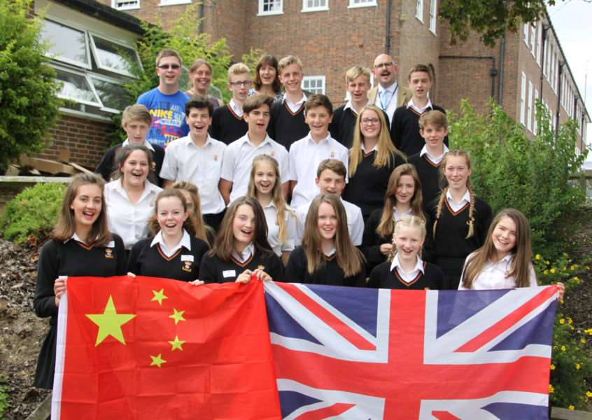 Members of King Edward VI's advanced leadership programme who will travel to Shanghai in mid-October for 10 days
