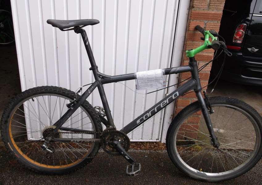 Police are looking for the owner of this black Carrera bike ANL-150629-152825001