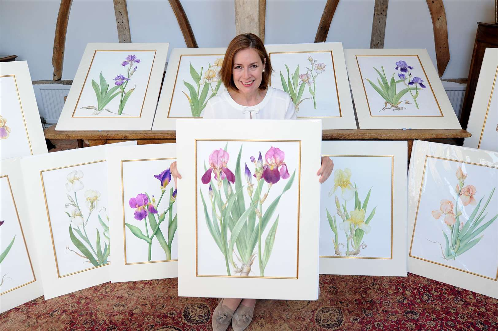 Dr Sian Dawson, Babergh District Councillor for Hadleigh, won the Finnis Scott Foundation Botanical Art Award, in recognition of her work on the Sir Cedric Morris Florilegium, a collection of 27 botanical paintings.....PICTURE: Mecha Morton. .. (3370974)