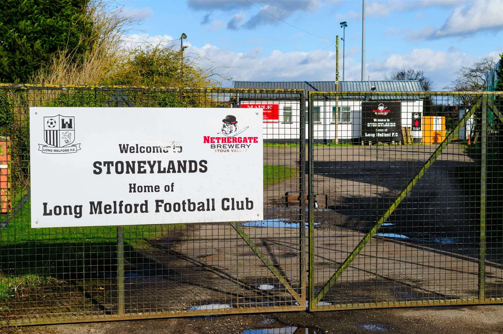 11/02/2020, Long Melford, UK. ..Long Melford Football Club grounds and club house...Photo by Mark Bullimore. (28959336)