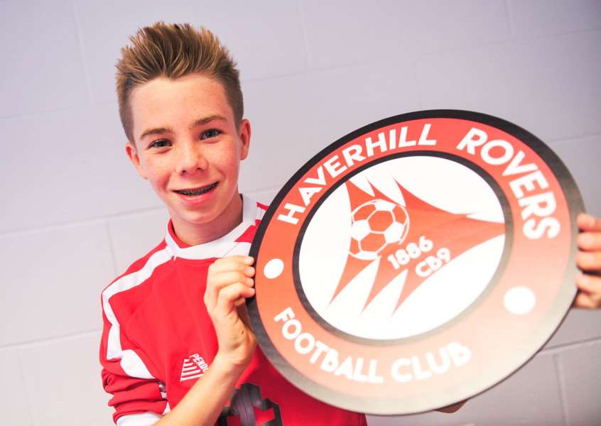 The new Rovers badge was designed by 13-year-old Taylor Ward. Photo: Ben Carmichael. ANL-150719-195607009