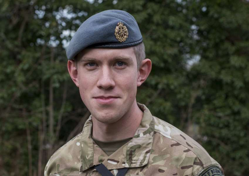 Cpl Jules Plowman of 20 (Defence Chemical, Biological, Radiological and Nuclear) Wing RAF Regiment and 27 Squadron RAF Regt all based at RAF Honington, Suffolk.'Picture: MOD/Martin Jones