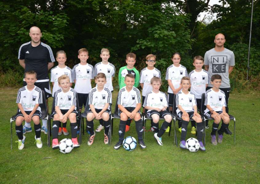 FRESH LOOK: Exning Under-11s show off their new kit