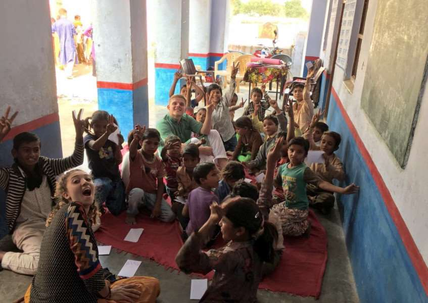 Olivia Ranoe-Hall, a 21-year-old volunteer from Long Melford, Suffolk, gave up spending Christmas at home to travel over 4,500 miles to work on a project tackling poverty in India.