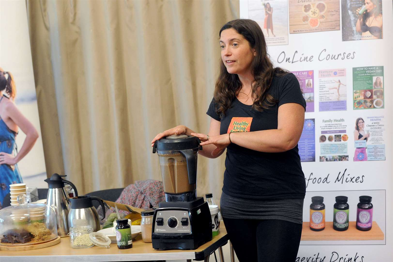 Healthy Living Festival in Kedington. Juliette Bryant showing quick and easy delicious healthy recipes. Picture by Mecha Morton.