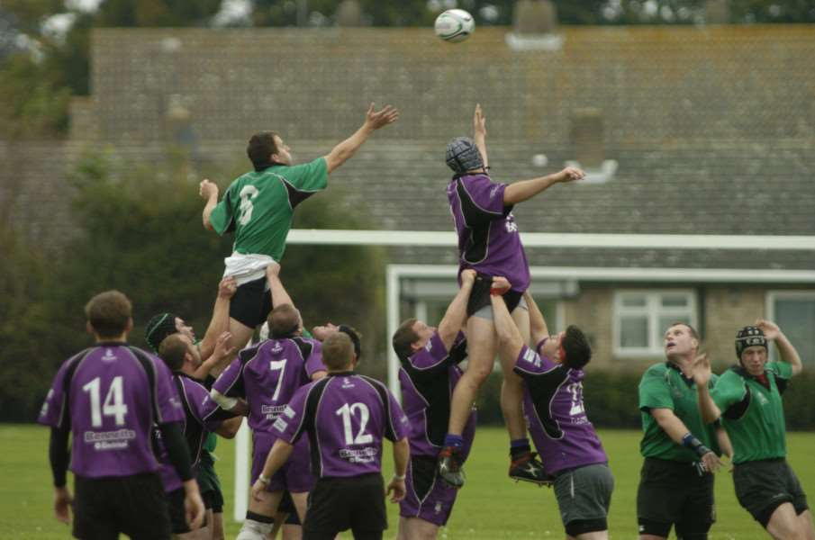 Rugby Action from Newmarket Rugby Club 1st XV v Dereham at Scaltback