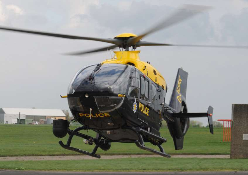 A National Police Air Service helicopter joined the search