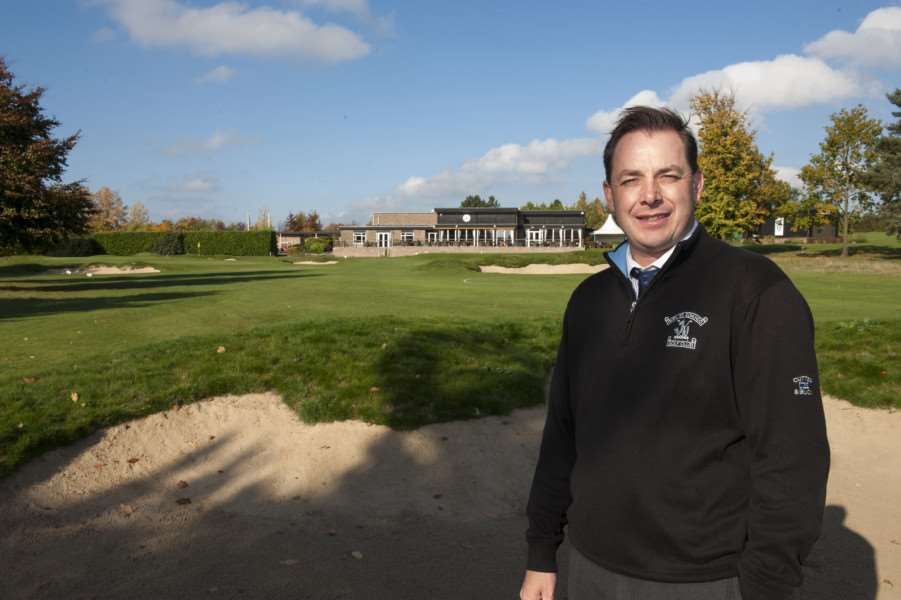 New green developments at Bury St Edmunds golf club.'General Manager Mike Verhelst.'Picture Mark Westley ANL-151026-164500009