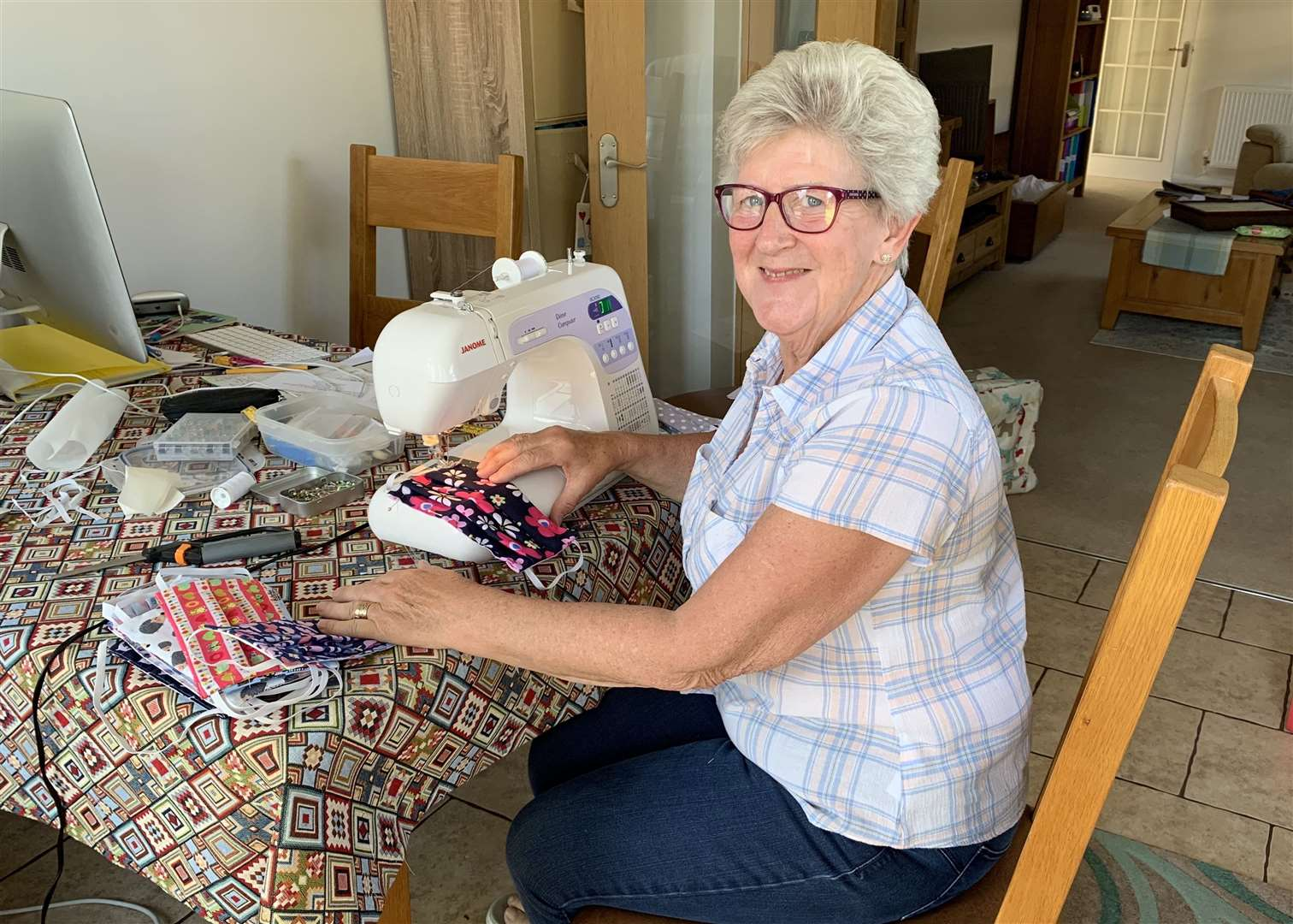 Ann Fone who has raised more than £1,000 sewing face masks