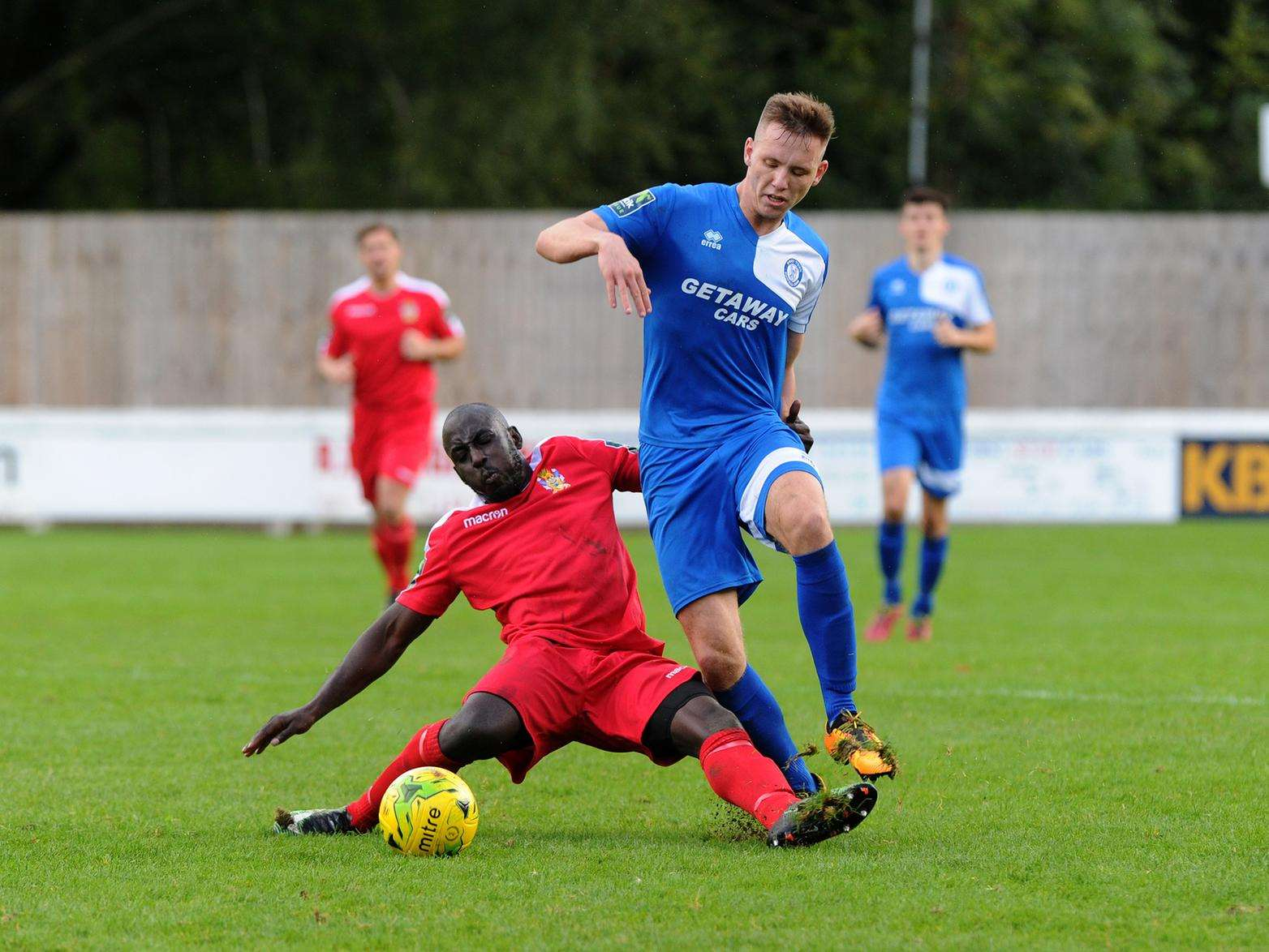 Bury Town v Aveley - Joe White Picture: Mecha Morton