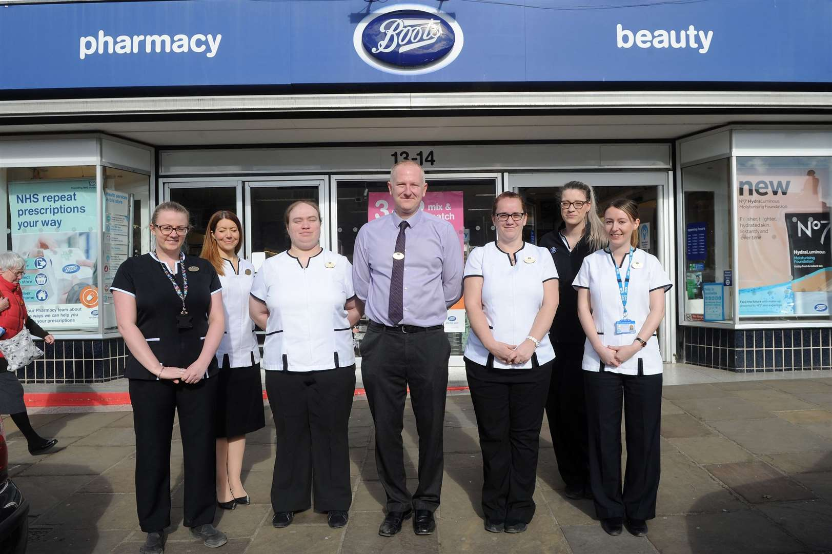 Boots Pharmacy in Sudbury have won an award for their Stop Smoking service from the Suffolk Community Pharmacy Awards 2019.....PICTURE: Mecha Morton... (7696683)