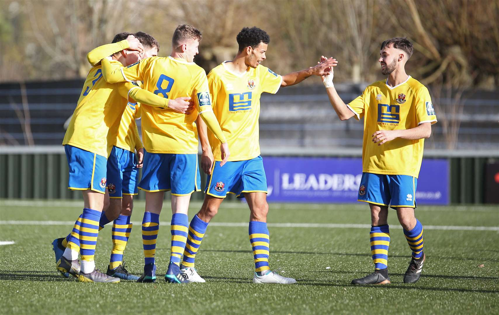 Reece Harris celebrates one of his two goals for AFC Sudbury at the weekend Picture: Richard Marsham