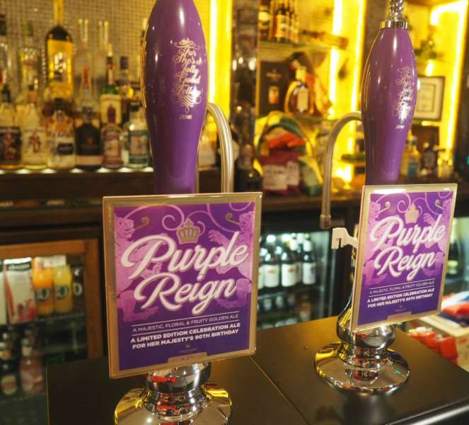 Greene King have released 'Purple Reign' to mark the Queen's 90th birthday ANL-160422-160143001