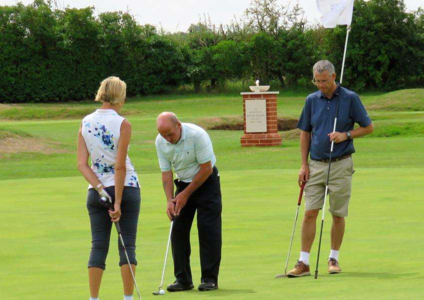 Action from the charity day at Flempton