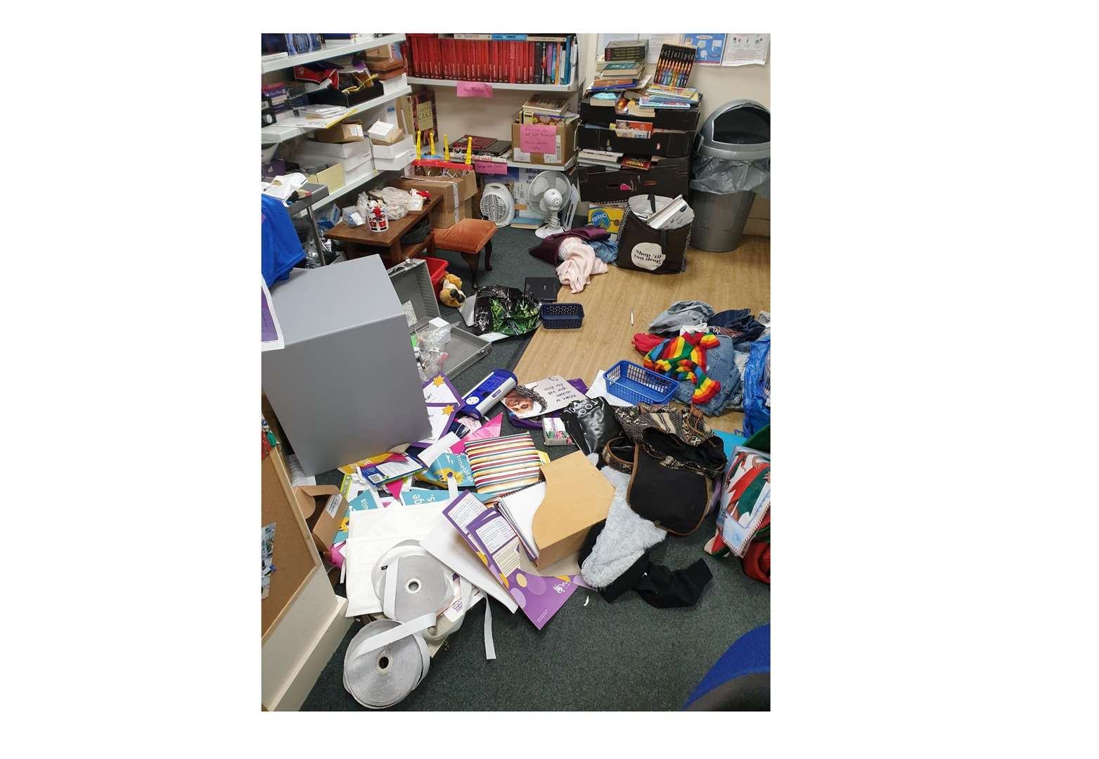 A stockroom was ransacked and items stolen during a break-in at Mind charity shop, on Cornhill, Bury St Edmunds. Picture: @BuryMind (28833996)