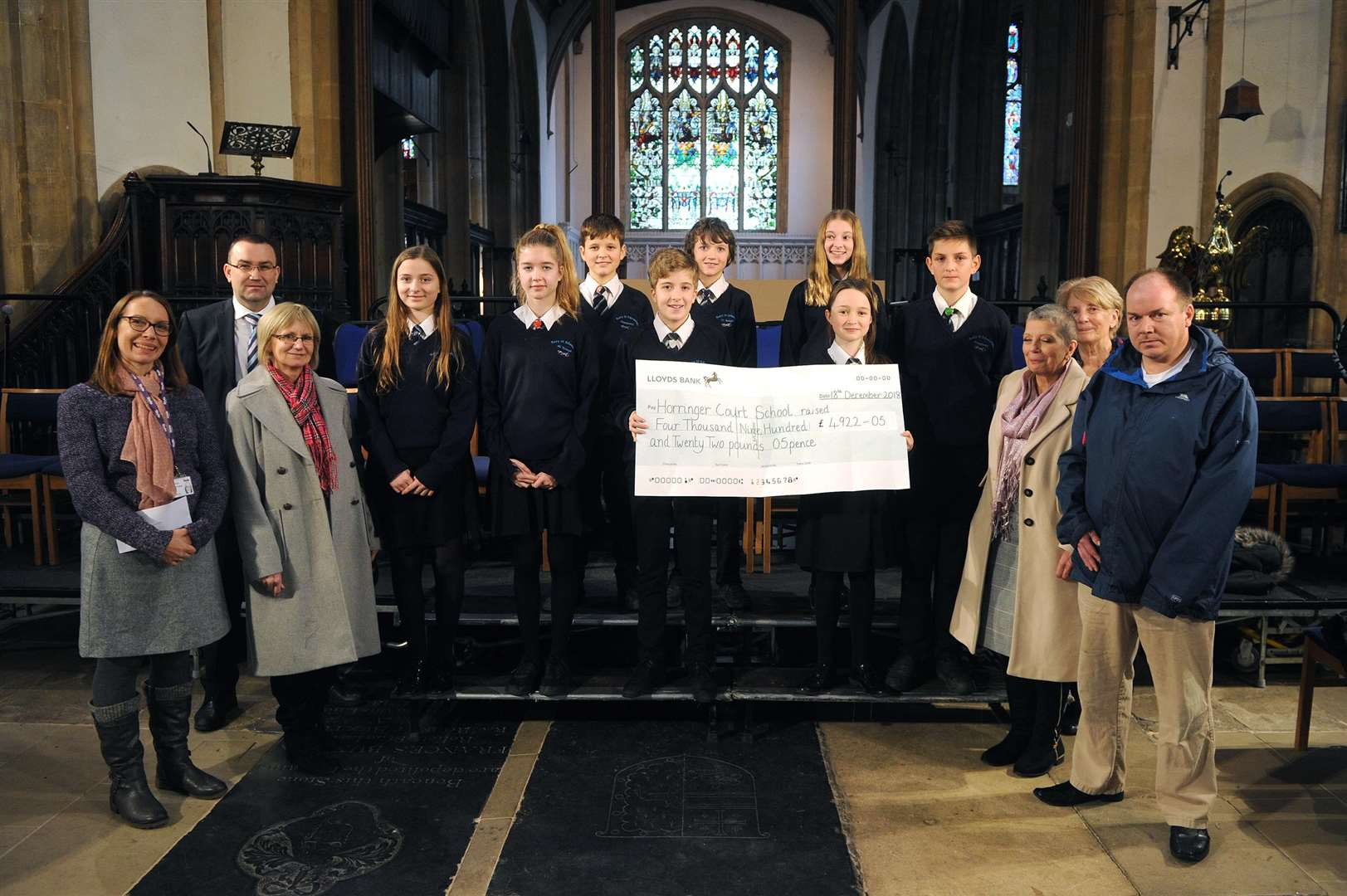 Horringer Court School carol service with a cheque presentation to three charities. PICTURE: Mecha Morton.