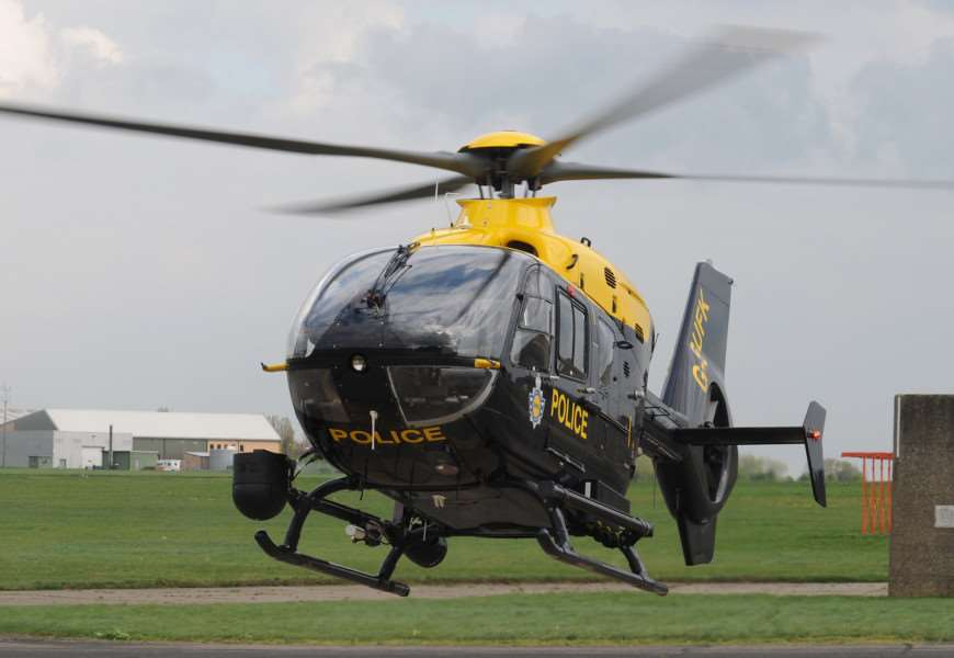 The National Police Air Service (NPAS) Suffolk helicopter based at Wattisham ANL-150323-113351001