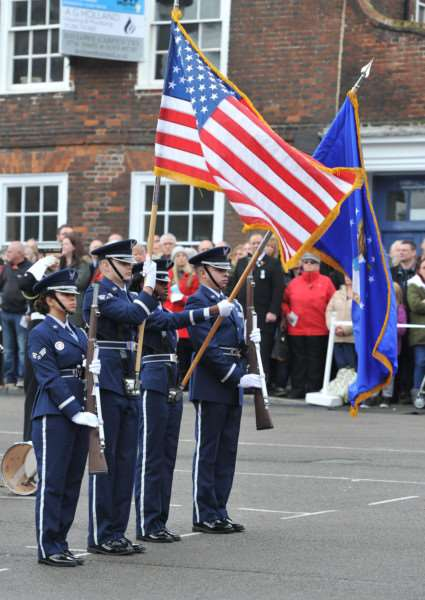 Members of the Honor Guard from the USAF at RAF Lakenheath ANL-150811-231625009