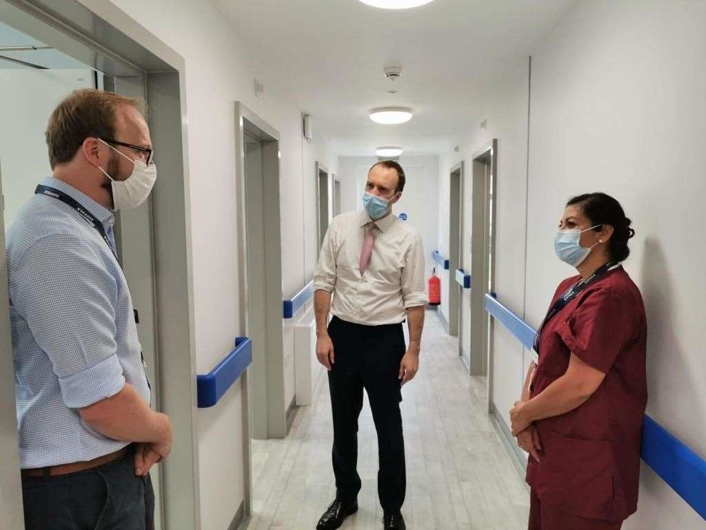 Dr Rayner and Dr Deepa Gupta with health secretary Matt Hancock when he visited the new surgery last month