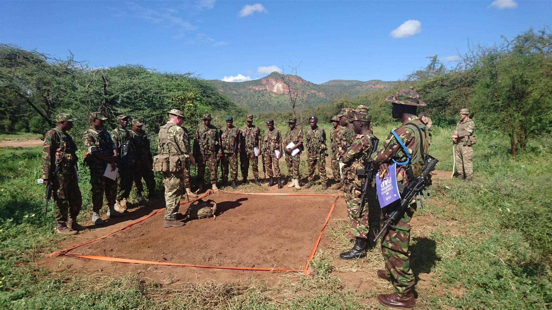 A team from RAF Honington has been providing training to the Kenyan Army (2285791)
