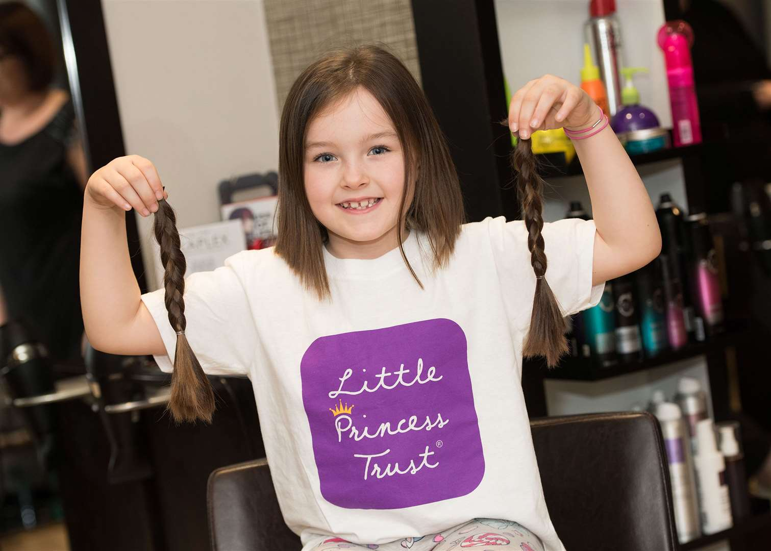 Fatal Attraction hairdressers, 25 North St, Sudbury.Jessie-May Jones, 6, who is donating her hair to the Little Princess Trust, a charity which provides wigs for young people who lose their hair through cancer treatment. Picture Mark Westley. (7752139)
