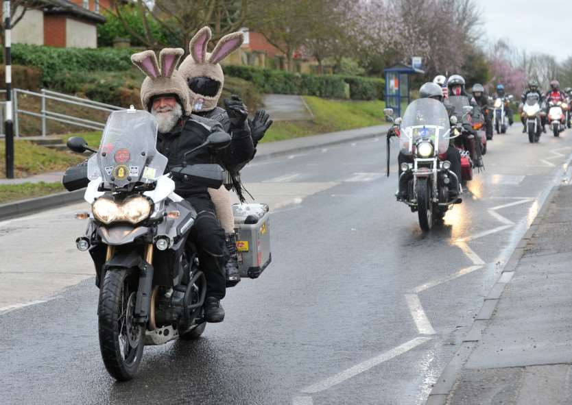 Bury & District MAG (motorcycle action group) held its annual Mad Cow Easter Egg Run today for the children at disability charity Scope in Shakers Lane. ANL-150329-203021009