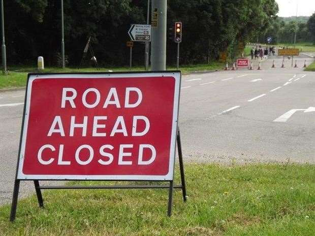 Roads will be closed (21918172)
