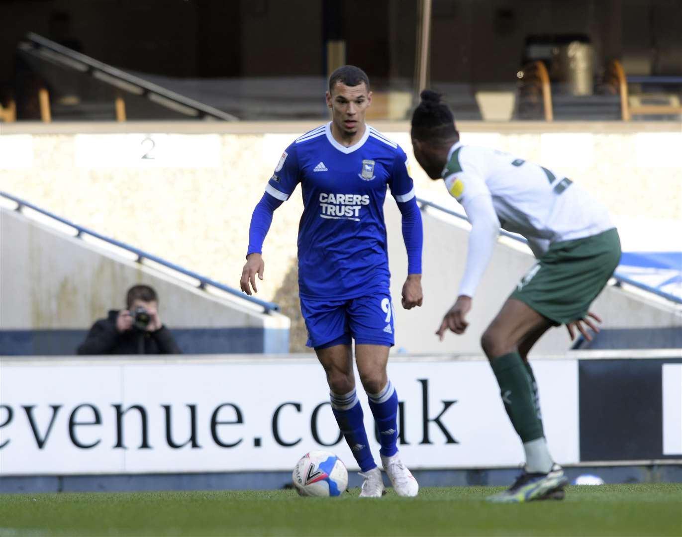 Kayden Jackson could be set to come into Ipswich Town's starting line-up at home to Bristol Rovers as a secondary striker Picture: Barry Goodwin