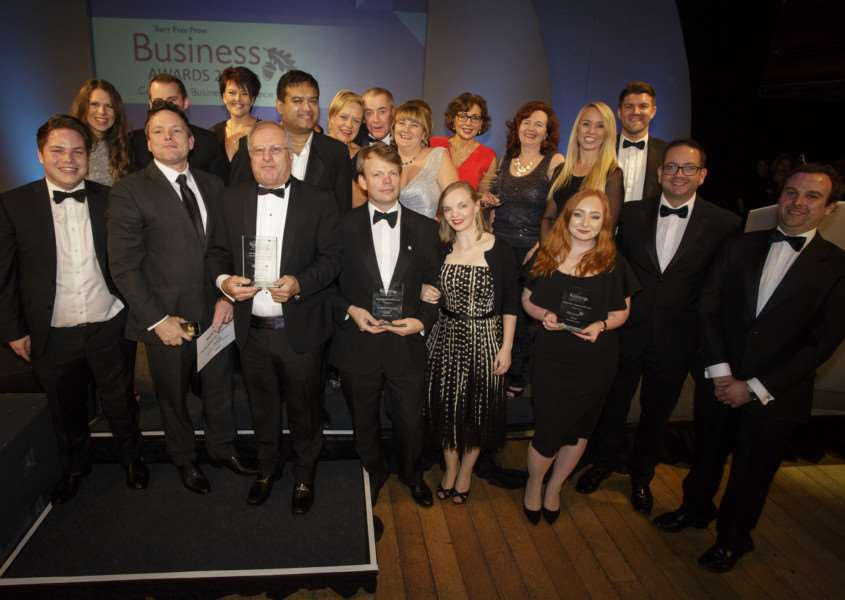 Bury St Edmunds, Suffolk. The Bury Free Press Business Awards 2016 at the Apex. Pictured are the winners of the night. ''Picture: MARK BULLIMORE ANL-161015-094029001