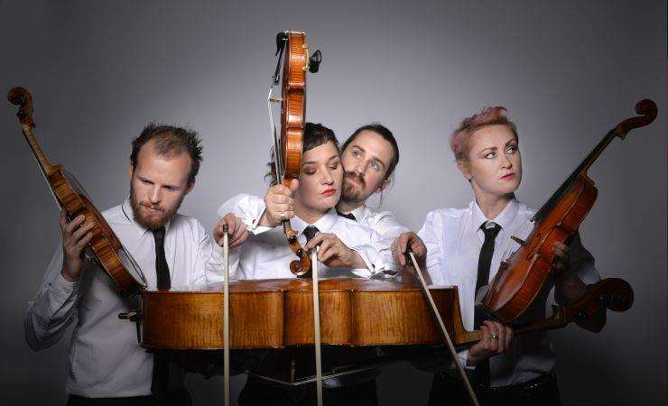 The all singing all dancing comedy string quartet group won the Spirit of Edinburgh Award 2018 at the Edinburgh Fringe festival (4388626)