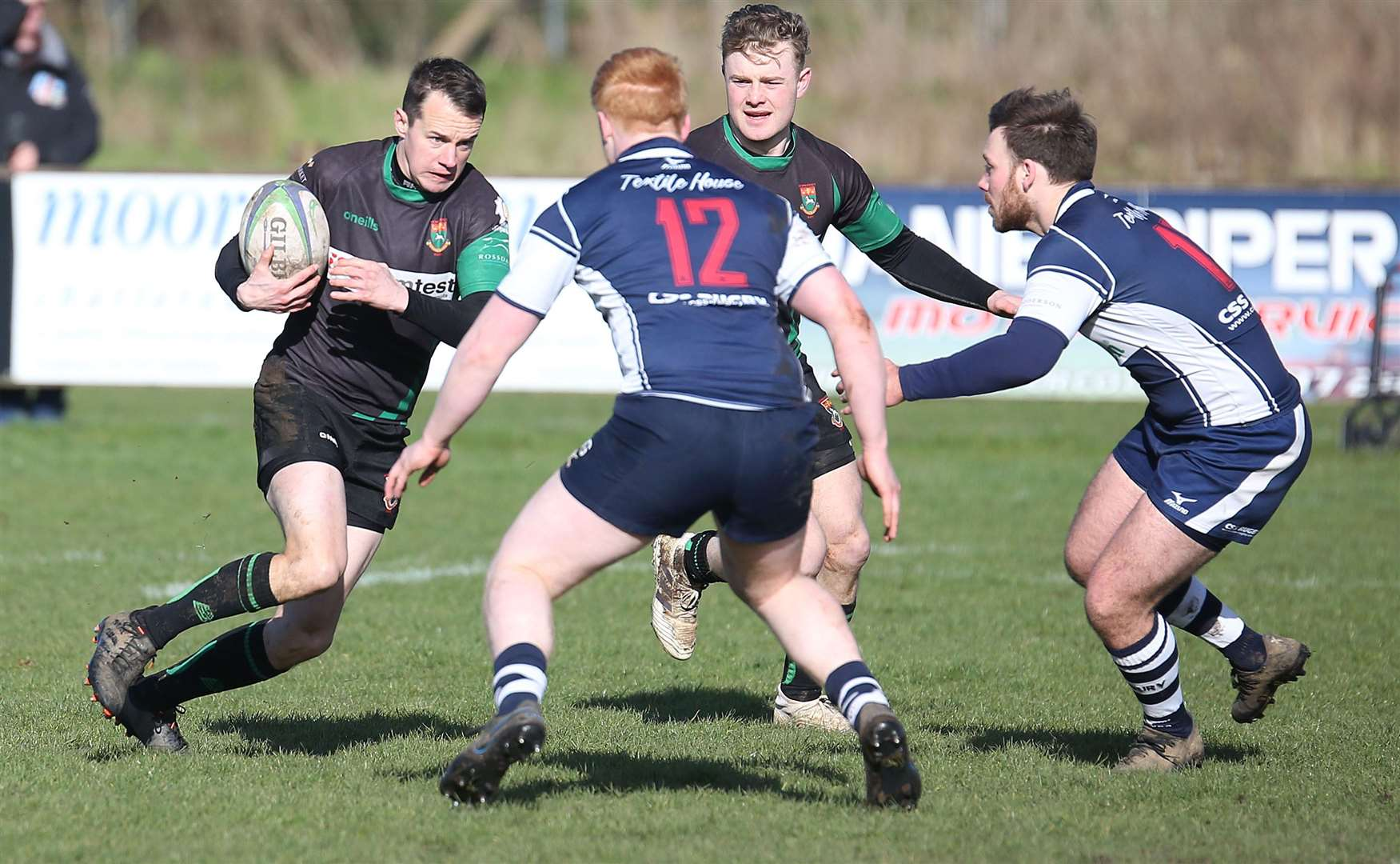 Newmarket's Tom Clifton pictured with the ball during Saturday's win against Sudbury II	Picture: Richard Marsham