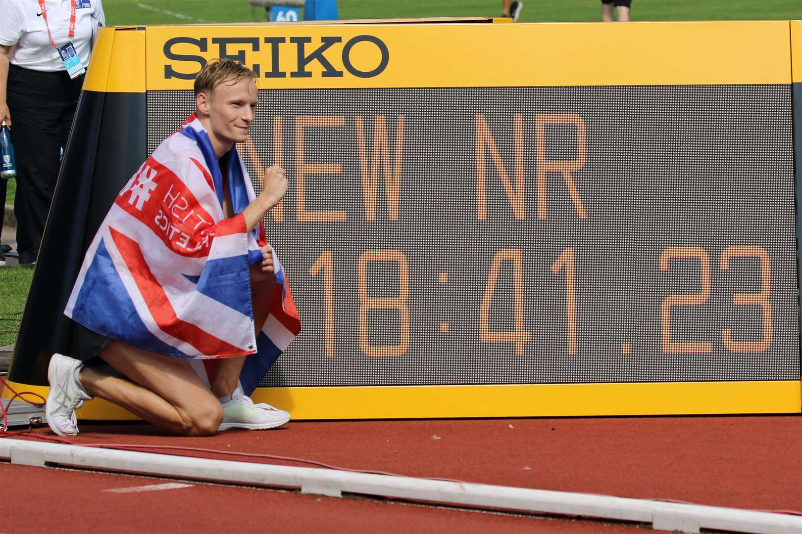 Callum Wikinson broke the national record at Birmingham. Picture: Mark Easton (15735529)