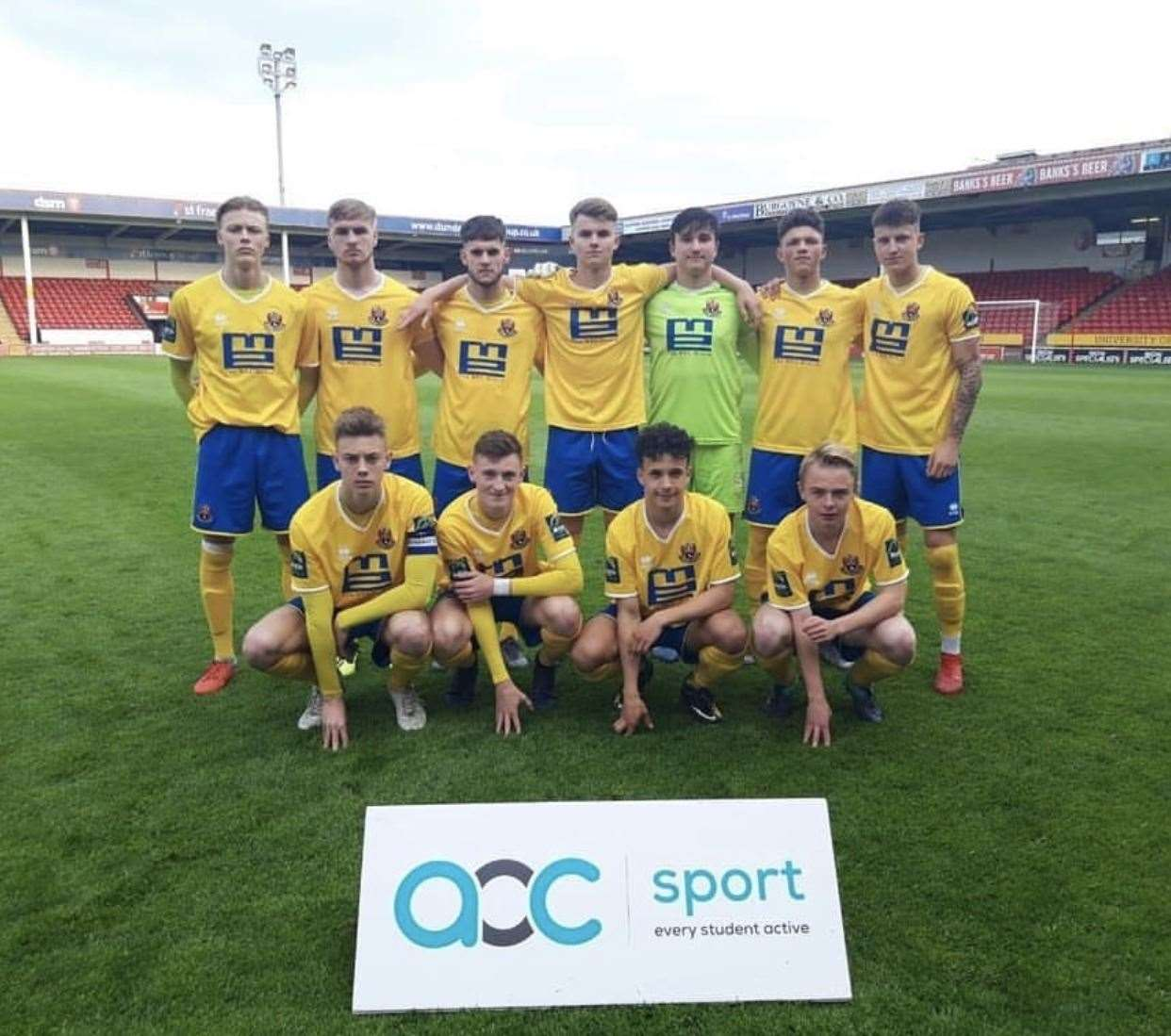AFC Sudbury Academy side at Walsall FC ahead of playing in the AoC English Colleges FA Sport Under-19 Knockout TrophyPicture: AFC Sudbury (9465811)