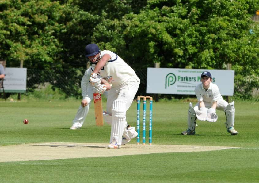 CRICKET: Minor Counties match Suffolk v Bedfordshire, Suffolk's Michael Comber at the crease PICTURE: Mecha Morton