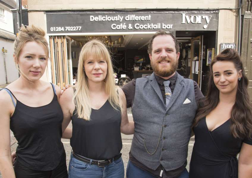 From the left, Ivory's kitchen manager Stephanie Wotton, owner Caroline Wotton, general manger Alex Coulson and supervisor Paige Clifford are determined to go with their heads held high on a festival note