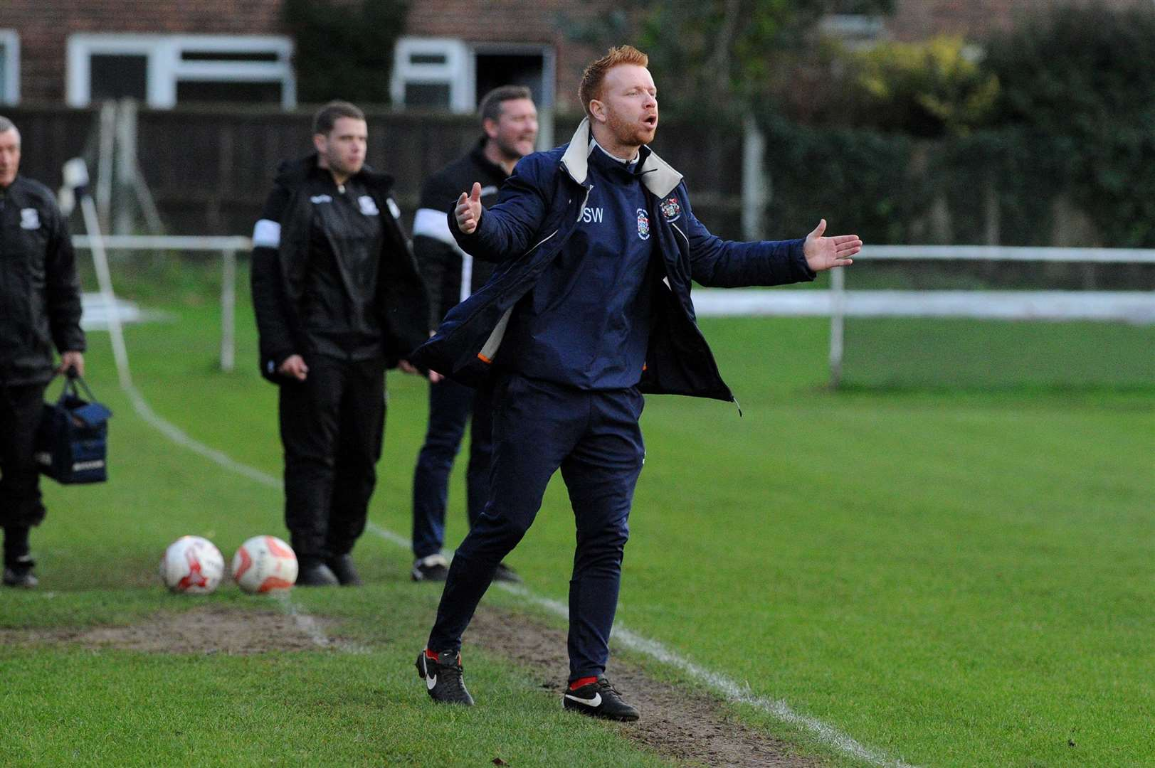 FOOTBALL - Long Melford v Hadleigh United..Pictured: Hadleigh Manager Shane Wardley ....PICTURE: Mecha Morton. (6439054)