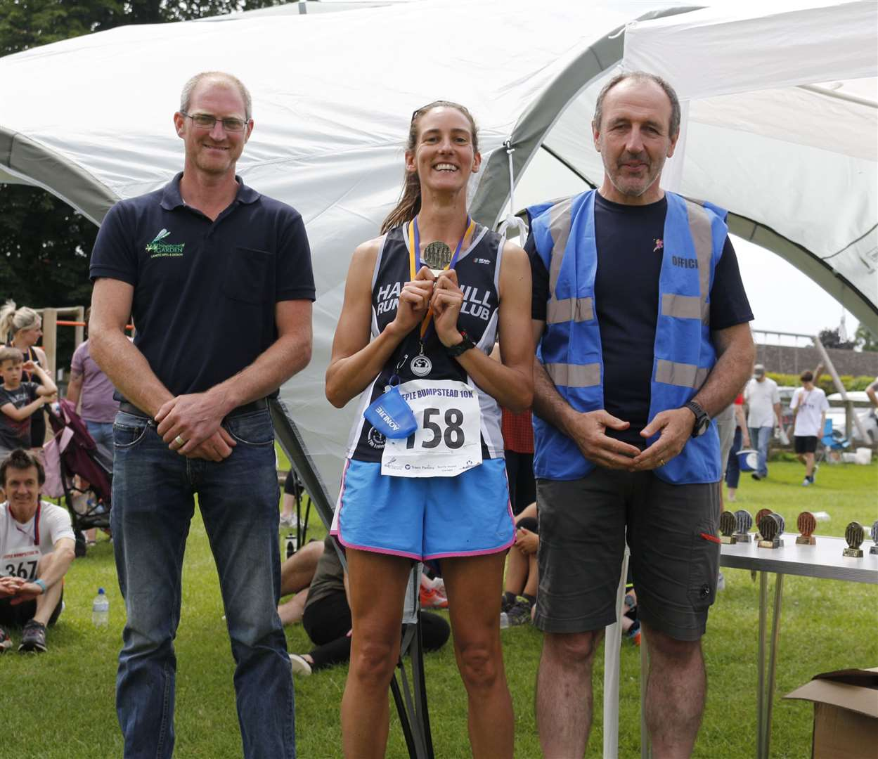 Nicki Davis - first female for Haverhill Running Club at 2019 Steeple Bumpstead 10K. Picture: Paul Brough (13546560)