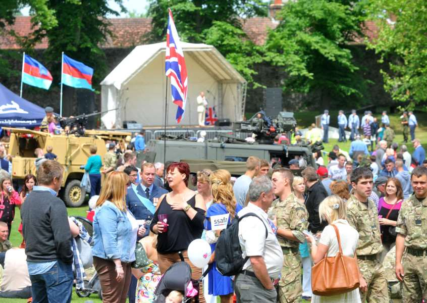 The 2013 Armed Forces Day event in Bury's Abbey Gardens proved popular ENGANL00120130107101013