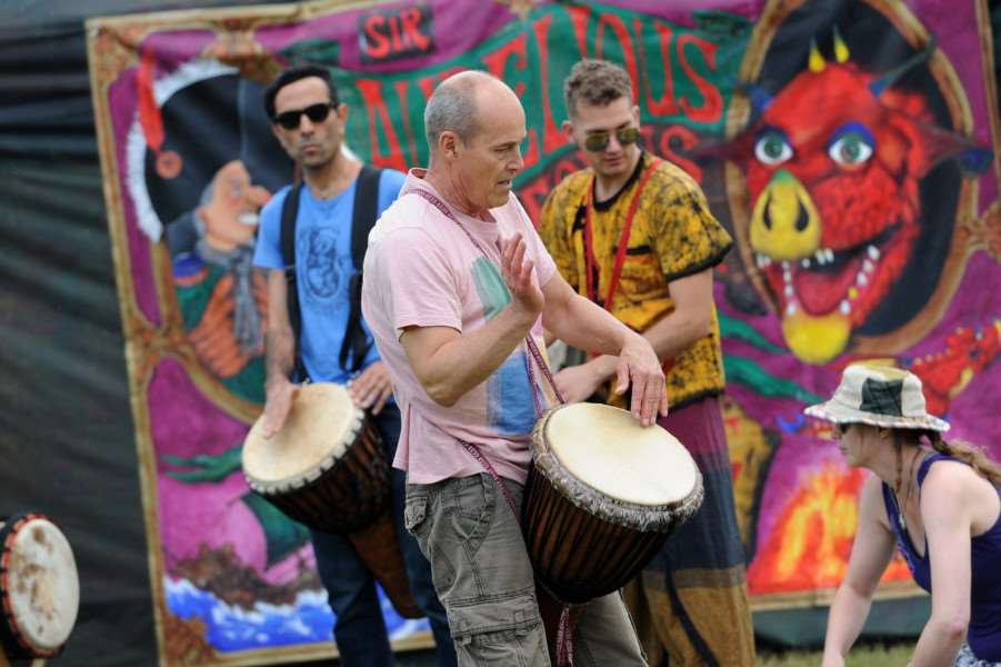 West Stow Dragon Festival 2016''Pictured: West Stow Drummers ANL-160626-201015009