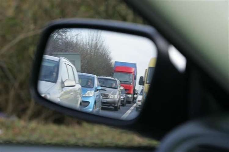 Traffic is queueing on the A14 (File photo)