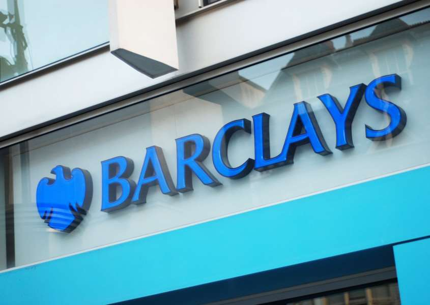 Liverpool, England - March 6, 2011: Sign of Barclays Bank in Liverpool. Barclays PLC is a global financial services company headquartered in London, United Kingdom.