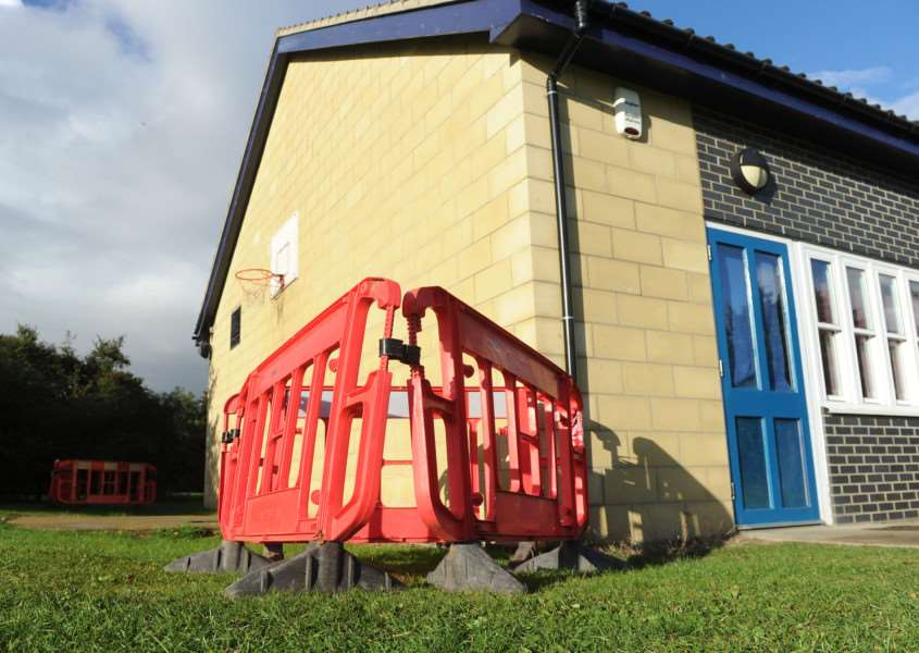 Moreton Hall Youth Club - Man hole covers have been disturbed and this has resulted in someone falling down it ANL-161010-164525009