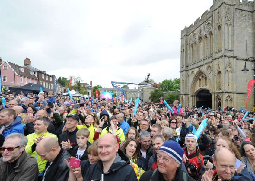 Women's Tour finishing in Bury St Edmunds last year