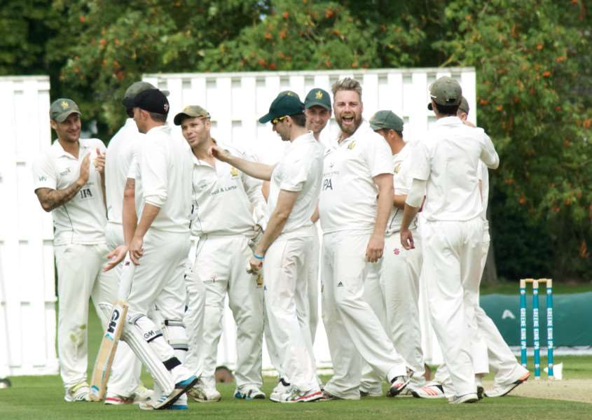 ALL SMILES: Bury St Edmunds players will be hoping for further celebrations on Sunday as they aim to reach the ECB T20 National finals