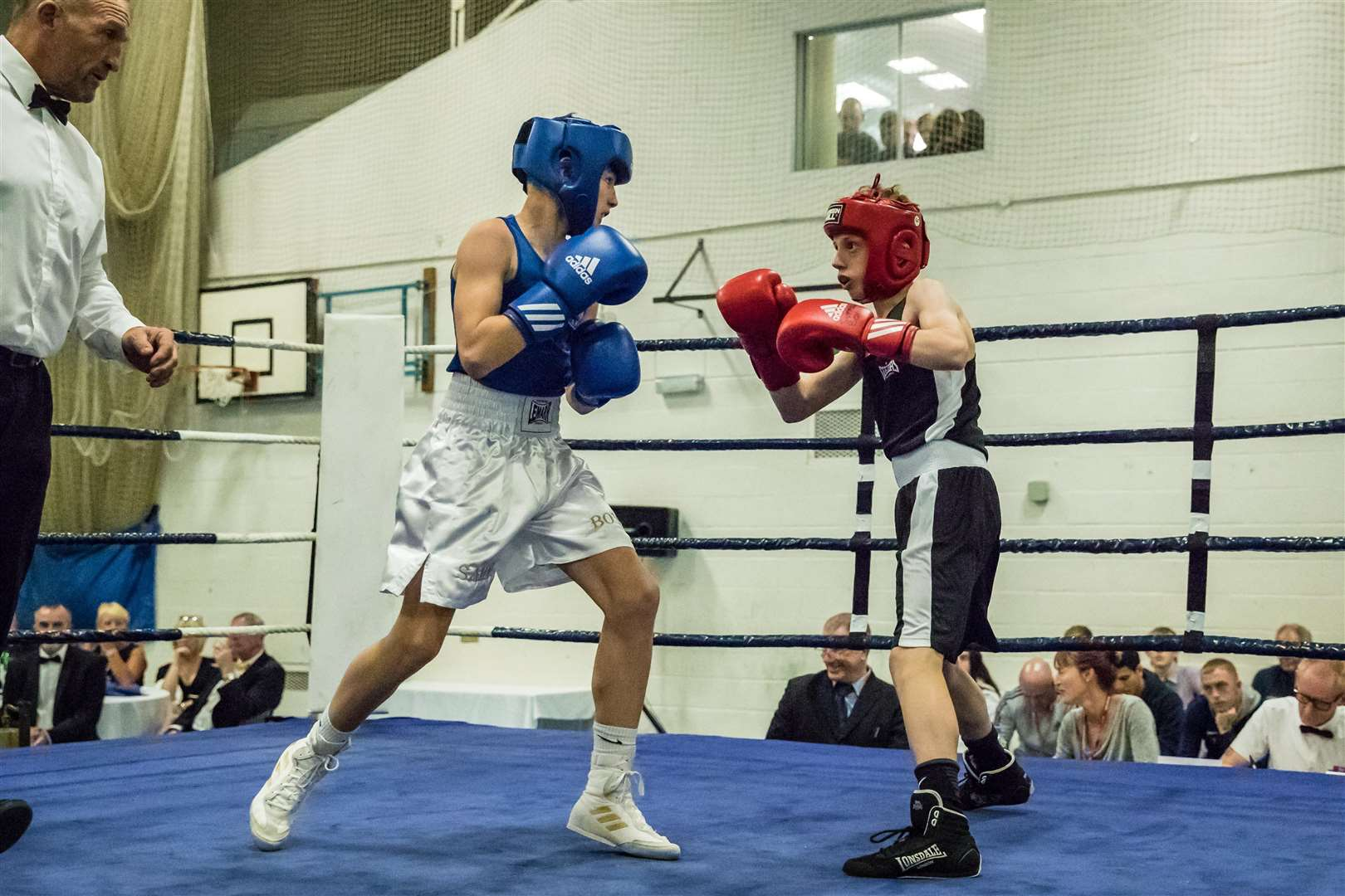 Boxing - Eastgate ABC Dinner Show. Pictured Matthew Arkley. Bout 1 - (Red) Matthew Arkley (Eastgate) v (Chalvedon) Sammy Neil (Blue) Picture - Paul Tebbutt - (Red) (Blue) Picture - Paul Tebbutt. (5054023)