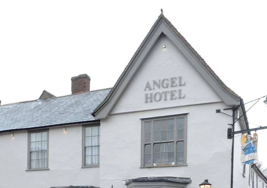 The Angel Hotel, in Lavenham.