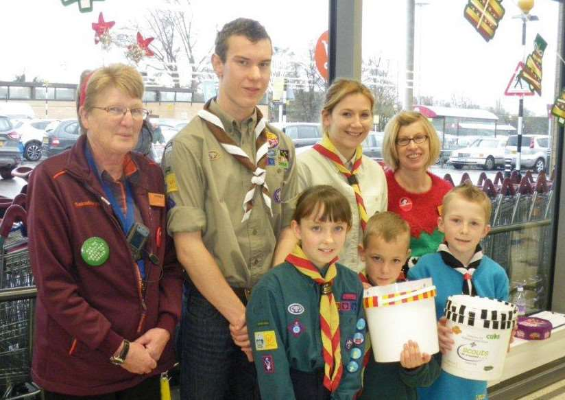 Mildenhall and Red Lodge Scouts have been benefitting from being Sainsburys local charity partners