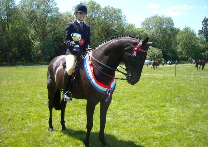 TOP PRIZE: Ring three champion Charlotte Thornton riding Saatch I