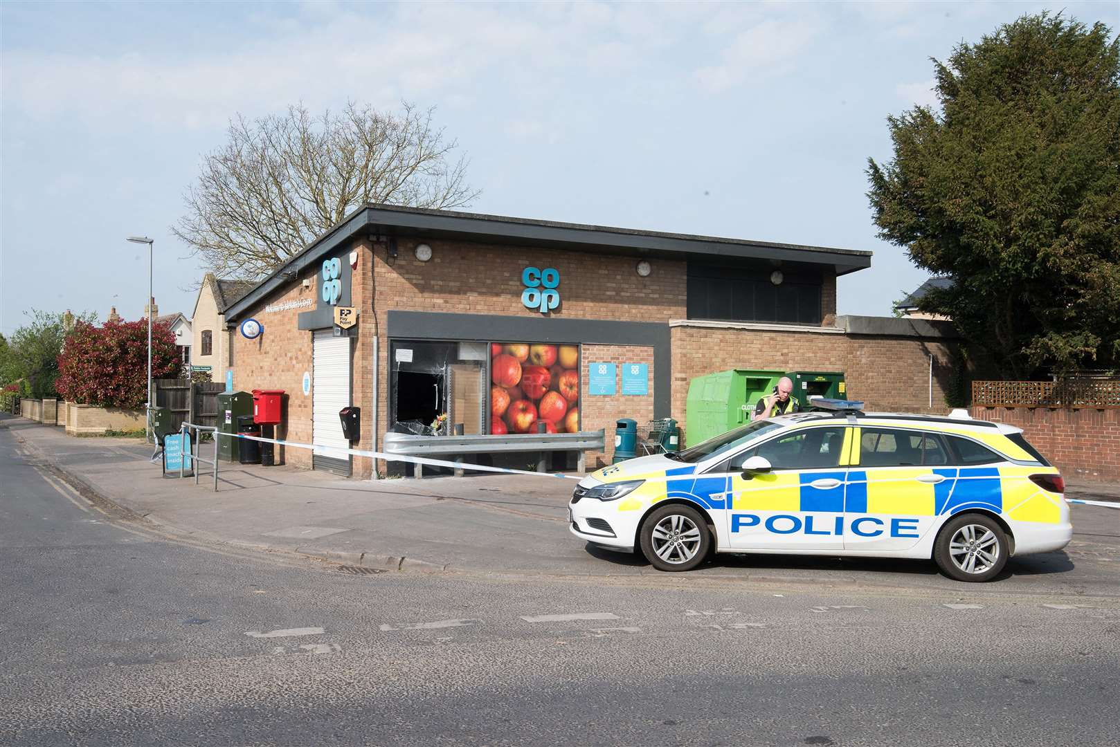 Isleham Coop smashed window robbery on Thursday night Friday morning. Picture by Mark Westley. (33312878)