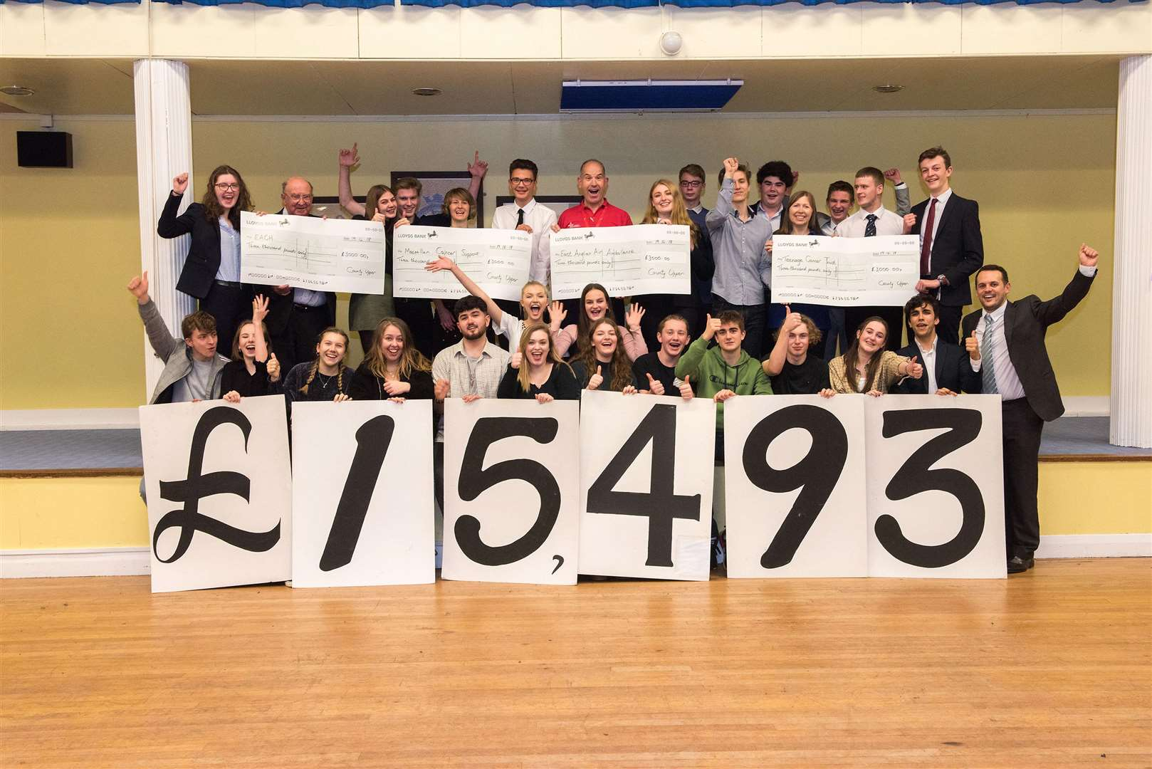 County Upper School cheque presentation. Picture: Mark Westley.